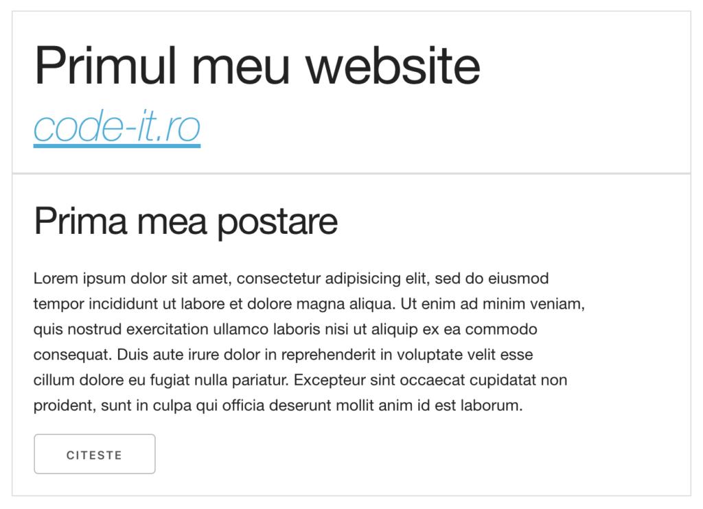 Previzualizare primul meu website