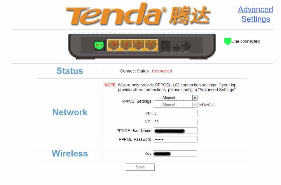 Setari modem wireless tenda